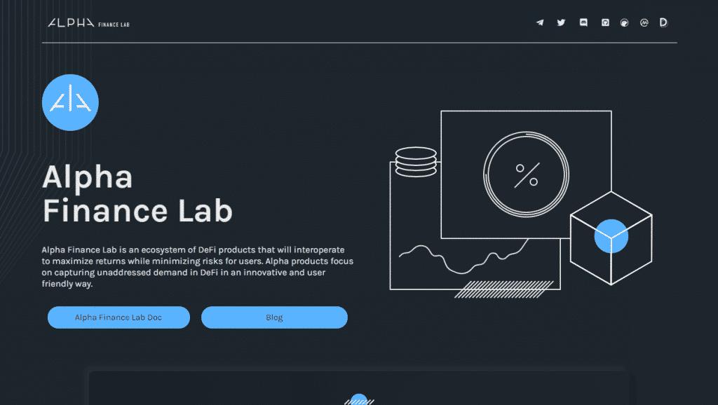 Alphas Finance Lab crypto platforms