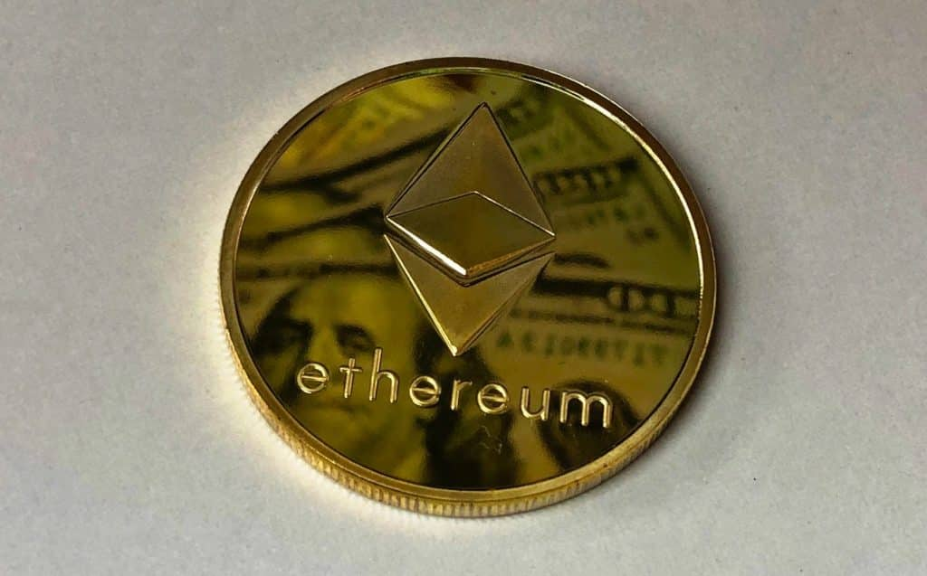 an image of an ethereum coin