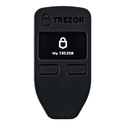 An image of one of the best hardware wallets: The Trezor One