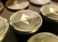 an image of ethereum logo on coins