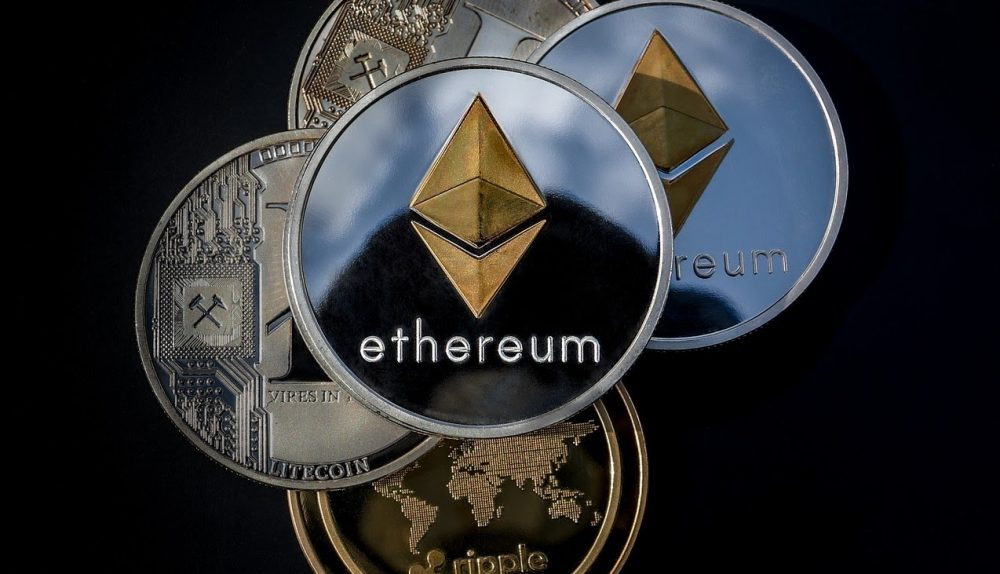 an image of an Ethereum coin - ways to make money with Ethereum